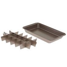 Форма для выпечки пирожных коричневого цвета лоток из высокоуглеродистой