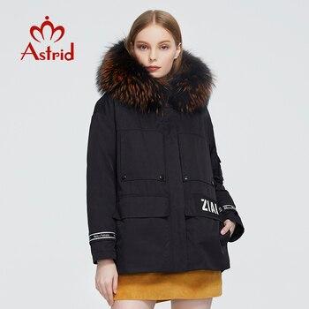 Astrid 2020 delle Nuove donne di Inverno cappotto donne parka caldo di modo di spessore Giacca con cappuccio di pelliccia di procione di grandi dimensioni femminile abbigliamento 3040 1