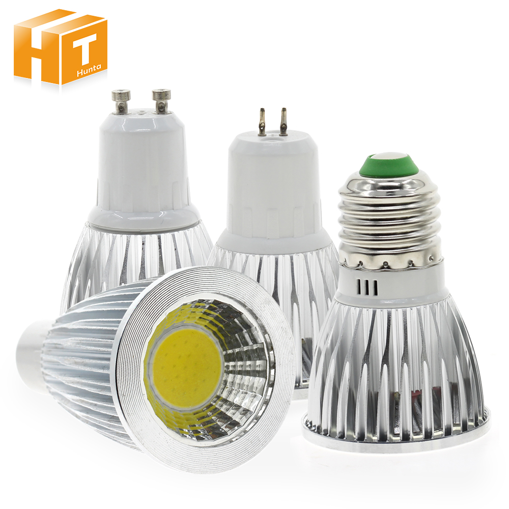 LED Spotlight E27 GU10 GU5.3 AC85-265V / MR16 12V High Brightness COB 5W White / Warm White Lighting Bulb.