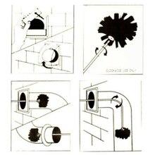 Дымоход внутренняя стенка нейлоновая щетина щетка для очистки разъем электрические сверла стержни