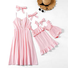 Autumn Dress Mommy and me clothes With Headbands Mother Daug
