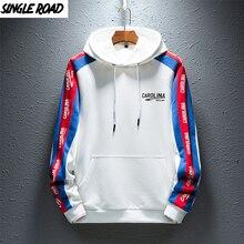 SingleRoad Mens Hoodies Men Spring Japanese Streetwear Side Striped Fashion Hip Hop Harajuku White Hoodie Men Sweatshirt Male