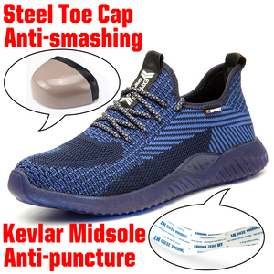 Image 2 - Immortal Indestructible Ryder Shoes Men And Women Steel Toe Air Safety Boots Puncture Proof Work Sneakers Breathable Shoes