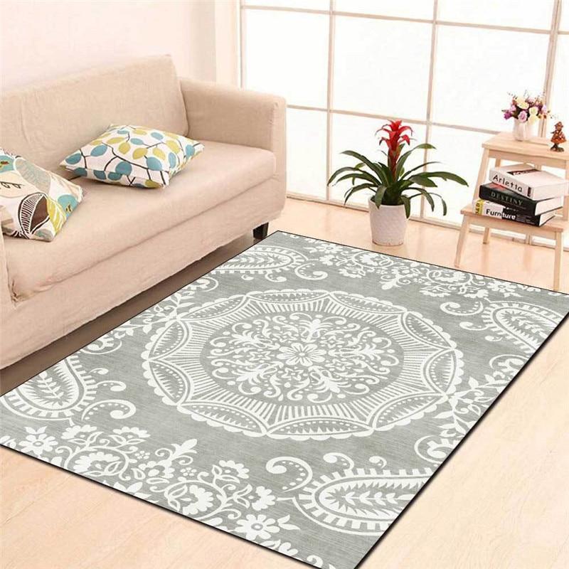 Экзотические коврики в европейском стиле, черный и синий ковер с цветком кешью, ковер для гостиной, спальни, одеяло для кровати, ванной, кухн...