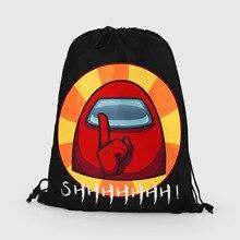 Beach Shopping Outdoor Fitness Sport Bag Bundle Pocket Unisex Drawstring Backpack 2020 Women Among Us Shopper Bag