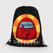 Drawstring Backpack Shopper-Bag Bundle Pocket Women Among Us Fitness Outdoor Unisex