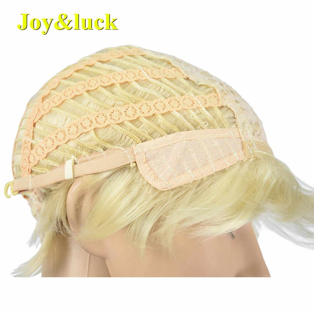 Joy & luck Mode Kurze Männer Perücke 6inch Blonde Farbe Natürliche Gerade Frisur Männlichen Perücken