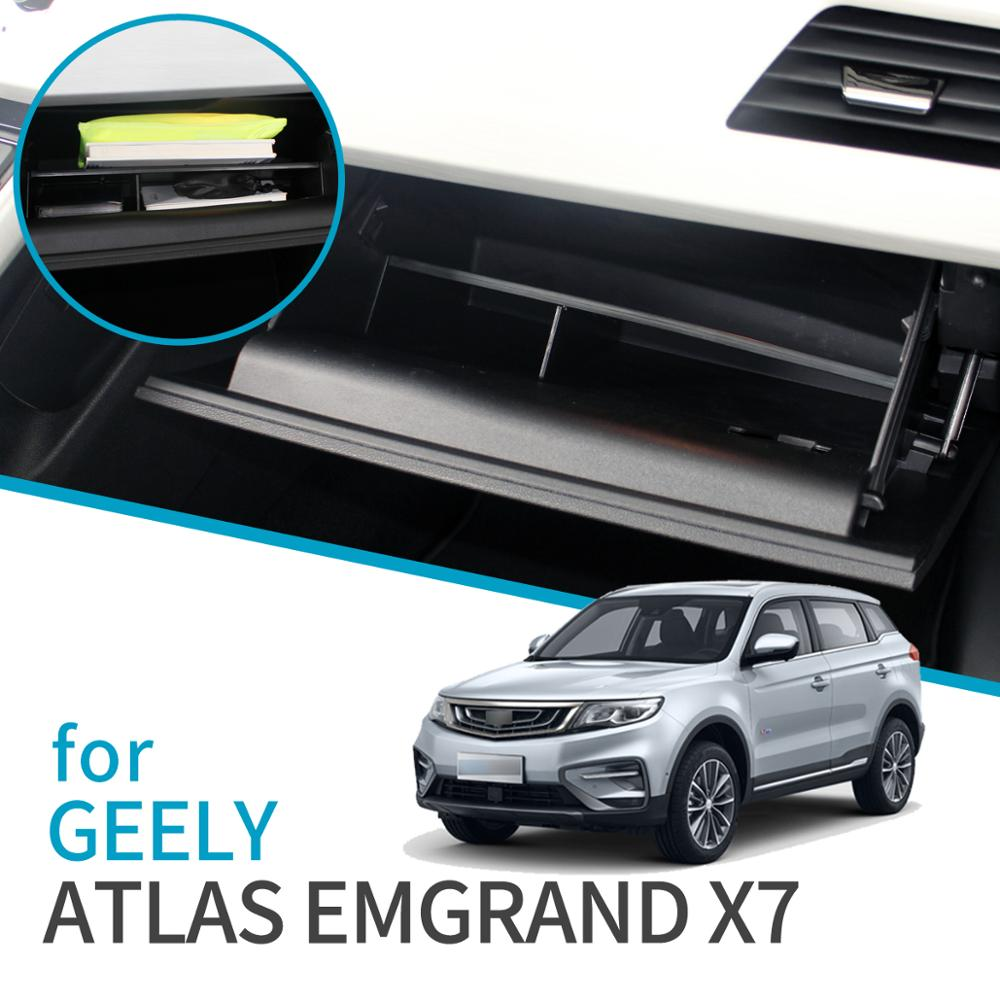 Car Glove Box Interval Storage Box for <font><b>Geely</b></font> Atlas <font><b>Emgrand</b></font> <font><b>X7</b></font> Sport 2016 ~ <font><b>2019</b></font> Proton <font><b>X7</b></font> Accessories Co-pilot storage box image