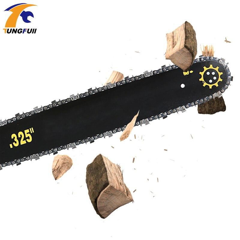 Sierra de cadena de gasolina para cortar madera herramientas eléctricas motosierra de gasolina 5000W 2 tiempos - 3