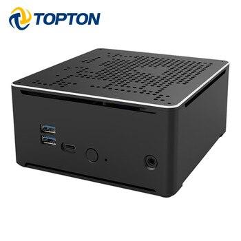 TOPTON Mini PC Intel i9 9980HK i9 9880H i7 9850H 2 LAN 2 * DDR4 64GB 2 * M.2 PCIE + SATA computadora de juegos Win10 Pro 4K HDMI DP AC WiFi