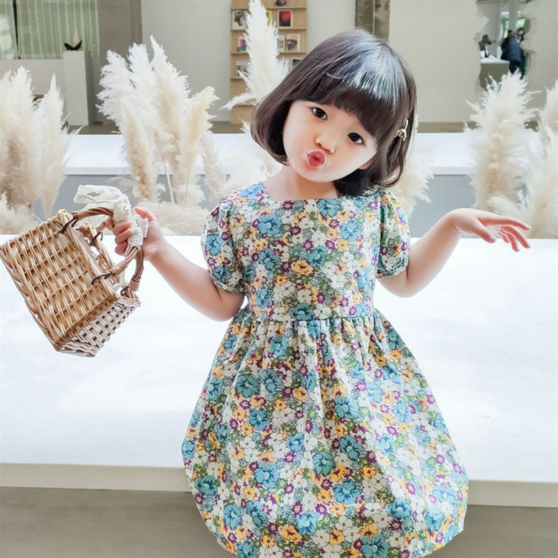 XINYOU New Brand 2021 Summer Baby Girls Dress Young Women Floral skirt Short Frozen Clothes For Children Kids Clothing Oversized