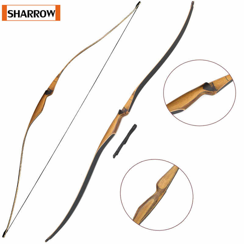 """54/"""" Archery Wooden Traditional Bow 30-50lbs Takedown Recurve Bow Handmade"""