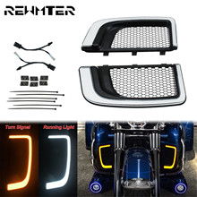 Motorcycle LED Fairing Lower Grills Light For Harley Touring 14-19 CVO Street Glide Electra Road Glide Ultra FLHTK Ultra Limited