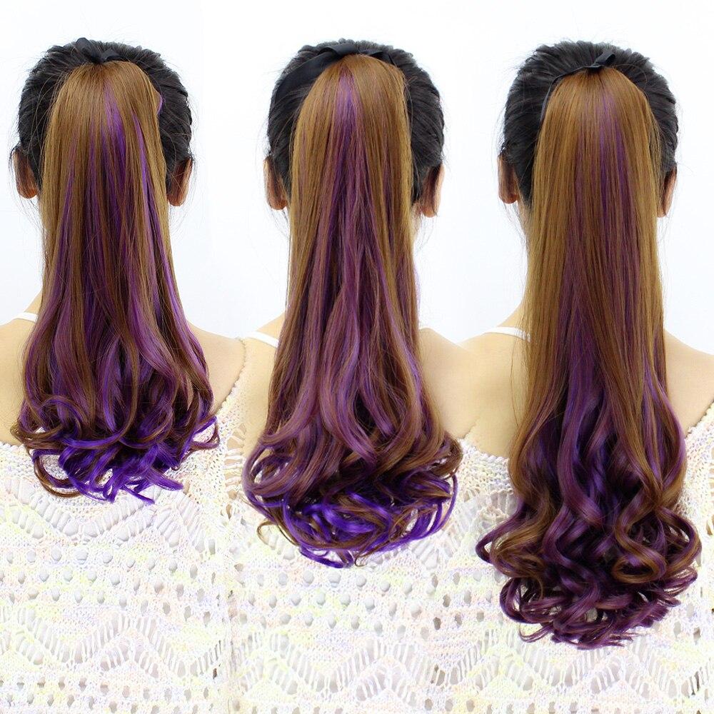 Заколка для волос в стиле JINKAILI, ярко-синий, розовый, красный хвостик, большая волна, рябь воды, длинные вьющиеся волосы, парик для женщин, конс...