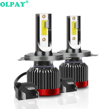 OLPAY H4 H7 LED H1 H3 H8 H11 HB3 9005 HB4 9006 H27 880 881 LED Bulbs Mini Car Headlight Lamp 8000LM 80W Auto Headlamp 12V 24V cooleeon auto headlamp led light h1 h4 h7 car headlight bulbs h11 9005 9006 automotive led lamp kit 12v 24v 80w 9600lm cree leds