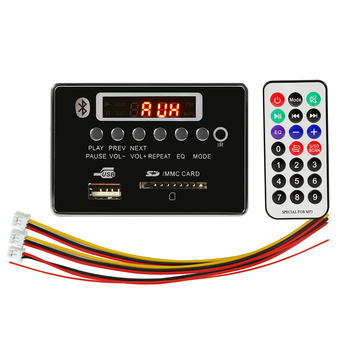 Car MP3 Player Decoding Board Audio Module 12V Bluetooth Radio WMA MP3 Audio Support U-disk FM Receiver TF Card AUX image