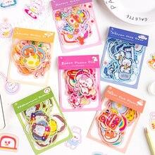 Journamm – autocollants gâteau lapin mignon, étiquette Scrapbooking en PET, papeterie décorative japonaise Kawaii pour Journal agenda, 40 pièces
