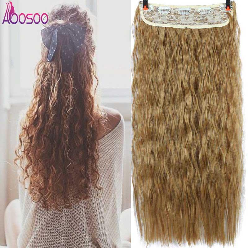 5 Clip de cabeza en extensión de cabello 9 colores 22