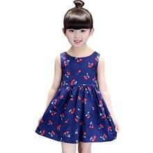 цена на Princess Dress Kids Clothes Girl Korean Sleeveless Cotton Vest Floral Flower Girls Kids Clothes 4 5 6 7 8 9 Year Dress for Girl