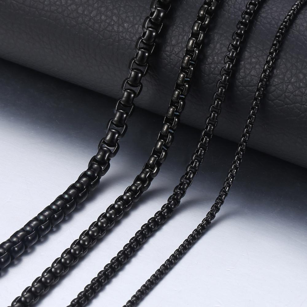 men/'s necklace stainless steel chain Chain for man Chain necklace box chain