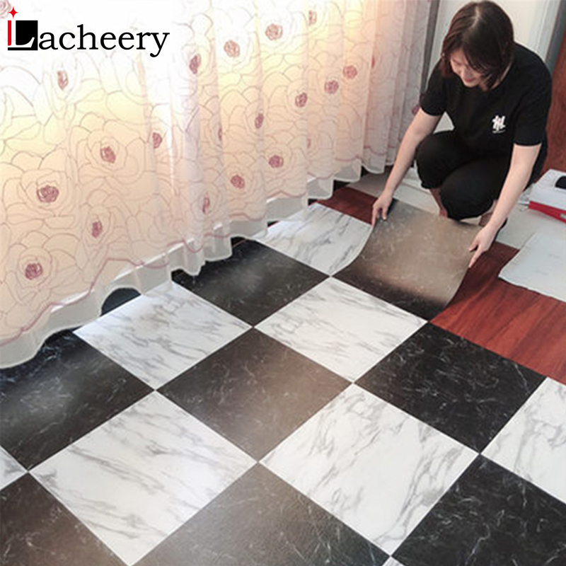 Waterproof Floor Stickers Self Adhesive Marble Wallpapers Kitchen Wall Sticker House Renovation DIY Wall Ground Paster Decor 1