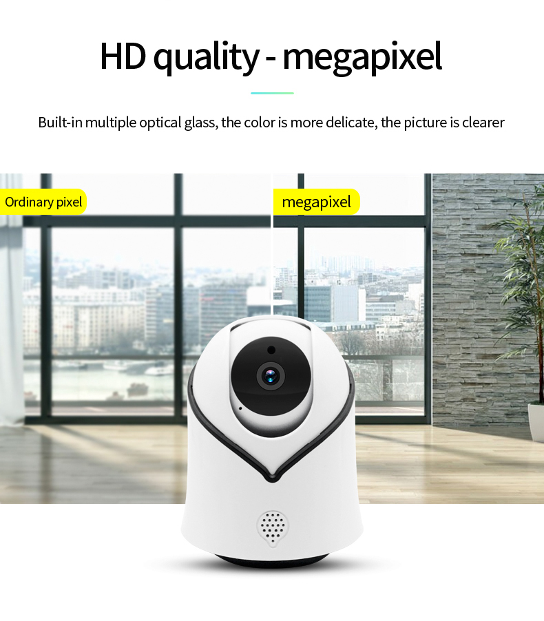 H776f73af1e0141b8ab82ca89d737604dy Cute Y10 PTZ Wireless IP Camera 720/1080P Infrared Night Vision Voice Call Home Security Surveillance WiFi Camera Support 128G