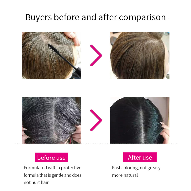 Sevich Black Hair Dye 2 in 1 Applicator hair color brush Instant White Grey Hair Cover Up One-off Hair Color Cream Beauty Makeup 5