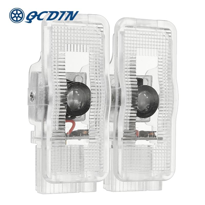 QCDIN 2pcs For PEUGEOT Car LED Door Welcome Logo Light Laser Decoration Shadow Projector Light For 407 408 508 RCZ 1007 3008