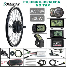 Warterproof Plug 36V/48V 500W Electric Bicycle Conversion Kit Rear Rotate Drive Hub Motor