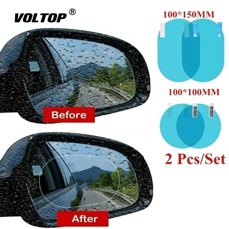 2 pièces/ensemble étanche à la pluie voiture accessoires voiture miroir fenêtre Film transparent Membrane Anti-buée Anti-éblouissement étanche autocollant conduite sécurité