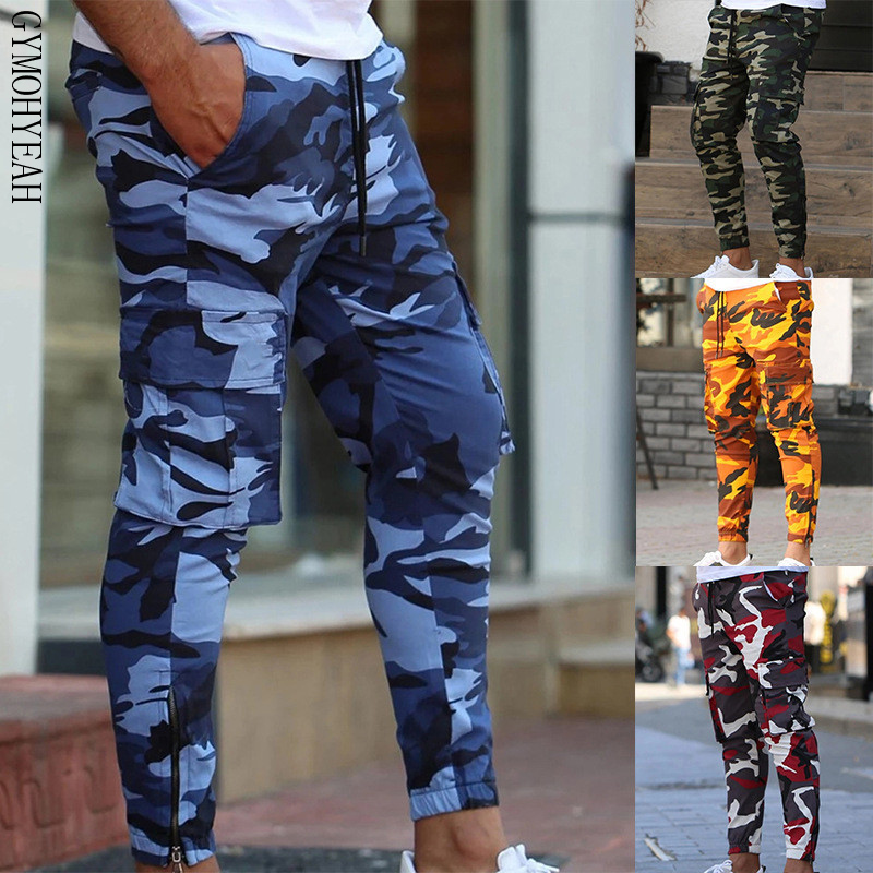 GYMOHYEAH Camouflage Quick-drying Cargo Pants Men Joggers Pants Summer 2019 Mens Gyms Trousers Male Spring Streetwear Sweatpants