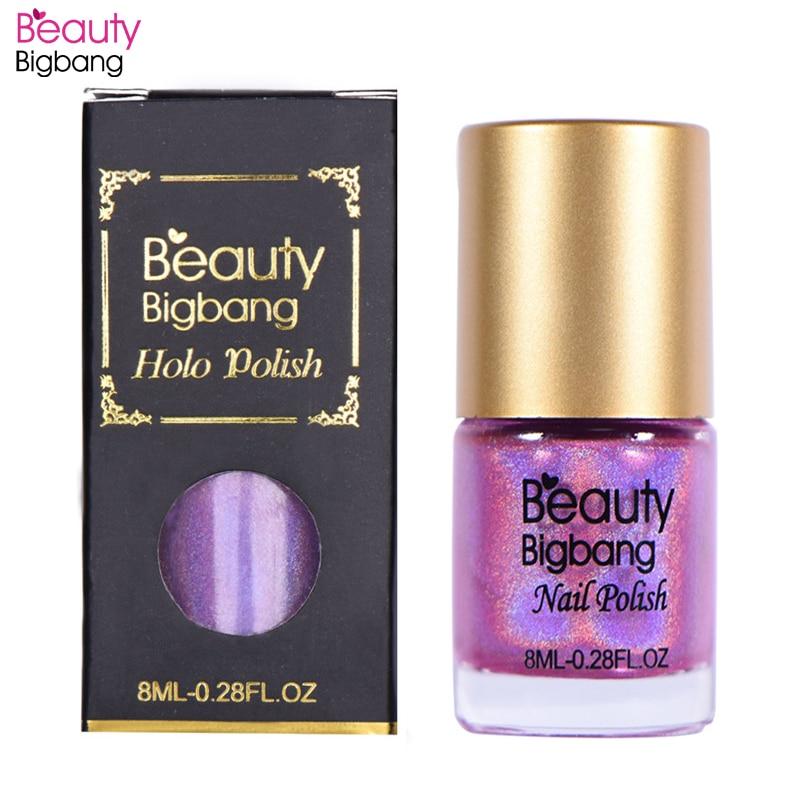 BeautyBigBang Nail Polish 12 Color Choice 8ml Laser Glitter Nail Polish Holographic Nail Polish Lacquer Glitter Nail Varnish in Nail Polish from Beauty Health