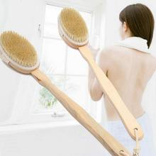 Bathroom Body Brushes Long Handle Bath Natural Bristles Brushing Brushes Exfoliating Tool Wooden Shower Handle Massager Dry F7O7