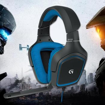 Logitech G430 USB Wired 7.1 Surround Adjustable Noise-Cancelling Headset Logitech Professional Gaming Headset high quility 6
