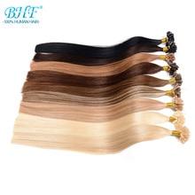 Hair-Extension Human-Fusion-Hair Keratin BHF Nail U-Tip Pre-Bonded Straight Capsules