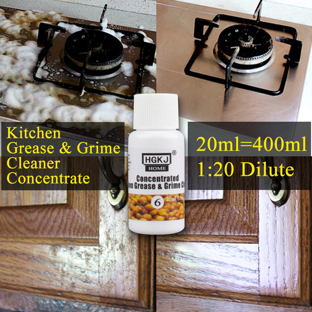 Grease Grime 20ml 50ml Strong Stains Removal Oil Dirt Detergent Concentrated Home Kitchen Cleaner Tool Accessories Easy Use