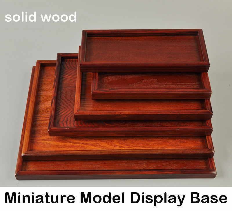 Scene Model Platform  Base  Solid Wood Density Board  Various Specifications  Military Model Sand Table Base  Tray