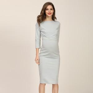 Image 5 - 2020 New Spring Striped Maternity Breastfeeding Dresses Pregnancy clothes Women Pregnant Nursing Lactation Dress Drop Shipping