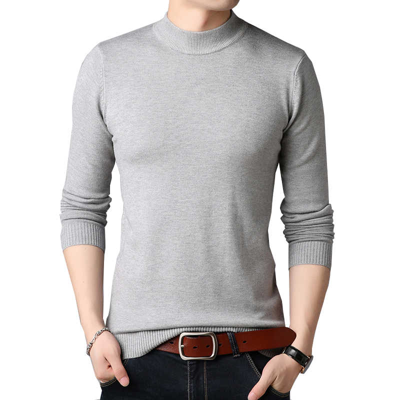 TFETTERS 남성 브랜드 스웨터 가을 슬림 스웨터 남성 캐주얼 솔리드 컬러 터틀넥 스웨터 청소년 니트 플러스 사이즈 M-4XL