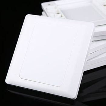 Electric Wall Switch Socket Blank Cover Panel Whiteboard ABS Outlet Plate Bezel Tool 86x86mm N0HB image