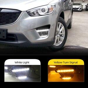 Image 1 - 2 pçs turn signal estilo led carro drl luzes diurnas com buraco da lâmpada de nevoeiro para mazda cx 5 cx5 cx 5 2012 2013 2014 2015 2016