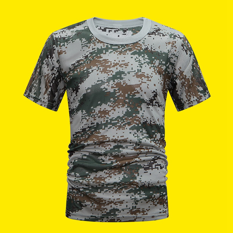 running - Camouflage Running Sport Short Sleeve T-Shirt Men O Neck Breathable Soft Leisure Riding Walking T Shirt Loose Tee Tops Apparel