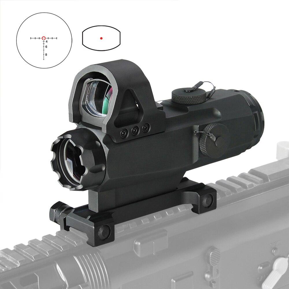 PPT HAMR Scope 4x24mm Rifle Scope Magnifier Riflescope Night Hunting Scopes Sniper Rifle Scope Air Gun Optic Scope HK1-0403