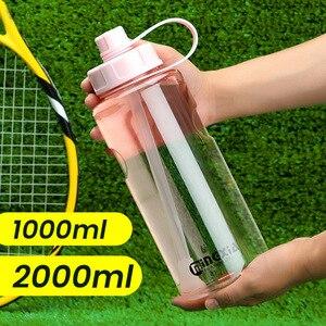 Image 1 - Bouteille deau pour sportifs et les voyages à grande capacité, sans BPA, pour le sport, pour les voyages, lescalade, la randonnée, offre spéciale
