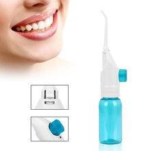 Irrigateur buccal Portable, 2 embouts, Jet d'eau, fil dentaire, nettoyage des dents