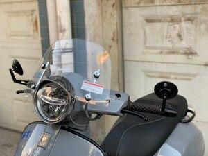 Image 3 - Für Vespa GTS 125 250 300 2018 2019 2020 Motorrad Windschutzscheibe Windschutz Air Deflektor Wind Deflektor Rauch Klar Spoiler