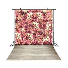 Blossom Flower Floral Wall Wooden Floor Photocall Baby Portrait Pet Photo Background Girl Custom Photo Backdrop For Photo Studio