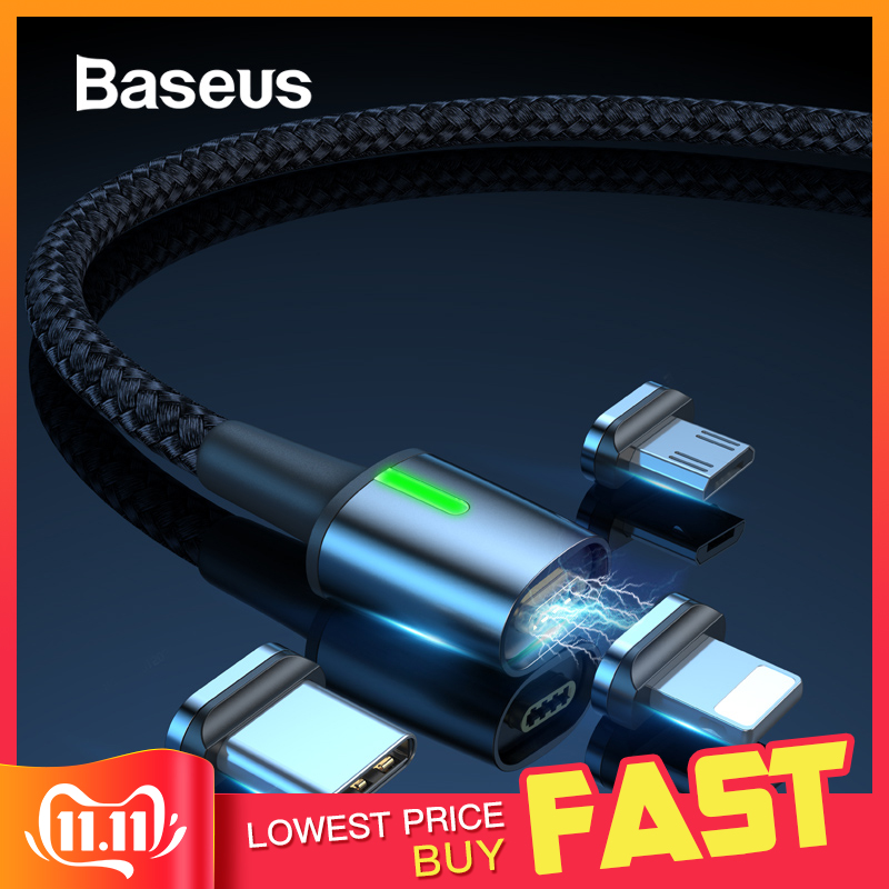 Baseus Magnetic Charge USB Cable for iPhone XR Xs Max Fast Charger Samsung S10 Huawei P30 USB Type C Cable LED Micro USB Cable-in Mobile Phone Cables from Cellphones & Telecommunications on AliExpress - 11.11_Double 11_Singles' Day