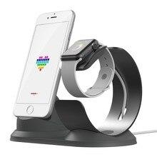 Держатель телефона настольная зарядная док-станция для наручных часов Apple Watch подставка S4/3/2/1 Алюминий подставка для подзарядки зарядное устройство с вертикальным фиксатором Зарядка для iPhone док-станция для зарядного устройства