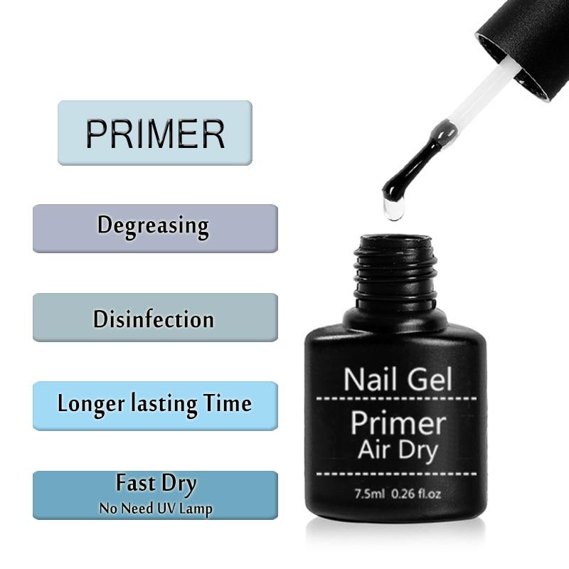 Lghzlink Fast Air Dry Primer UV LED Gel Base Primer No Need Of UV/LED Lamp Soak Off Gel Nail Polish For Nail Art Design